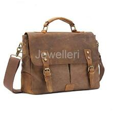 Vintage Canvas School Satchel Messenger Military Shoulder Leather Bags