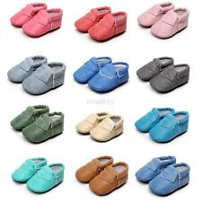 Toddler Moccasin Baby Boy Girl Leather Shoes Kids Soft Sole Shoes 0-30 Months