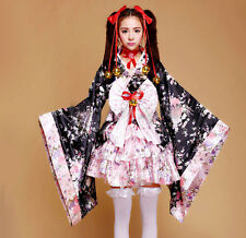Japanese Kimono Cosplay Lolita Anime Maid Uniform Outfit Costume Dress  NEW