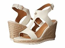 Coach Womens Leeanne Open Toe T-Strap Espadrille Platforms Wedges Sandals Heels