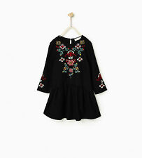 ZARA GIRL  FLORAL EMBROIDERED DRESS 5-14 YEARS !DIRECTLY FROM ZARA!