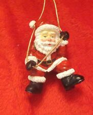 Assorted Dillards Santa Ornaments 3""