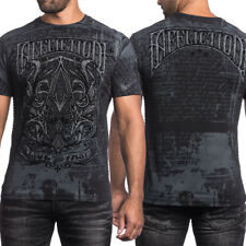 Affliction Live Fast A Frame Medieval Calligraphy Decorative Mens T-Shirt Black