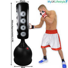 5.5ft Freestanding Punch Bag Mitts Heavy Duty Stand Kick Boxing Pad Martial Arts