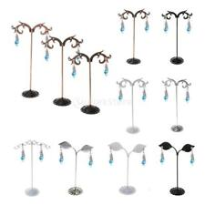 1 Set Of 3pcs Stainless Steel Metal Earring Tree Shaped Display Stand Holder