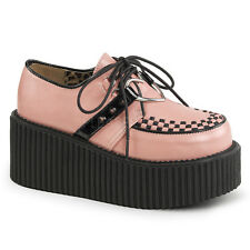 Demonia Creeper-206 Baby Pink Love Heart Platform Shoes - Gothic,Goth,Punk,Pink,