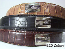 NEW CROCO WESTERN CONCH GOLF BELT 3 COLORS ALL SIZES SM, MED, LG, XL