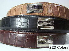 New Croco Western Conch Golf Belt 3 Colors All Sizes Small, Medium, Large, or XL