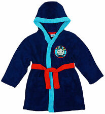 BOYS THOMAS THE TANK ENGINE HOODED DRESSING GOWN 5 SIZES FLEECE NEW
