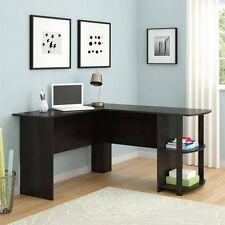 L-Shaped Desk with Side Storage, Multiple Finishes Office Furniture Student