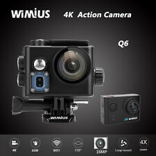 Wimius 4K Action Camera Wifi Sports HD Waterproof 1080p 60M Camcorder DV cam