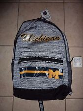 "VICTORIAS SECRET PINK UNIVERSITY OF  ""MICHIGAN"" MARLED BACKPACK SOLD OUT NWT"