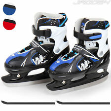 Adult Child Ice Hockey Skates Skating Shoes Boots Adjustable Size Blade Guards