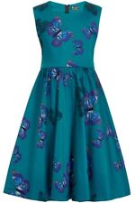 Little Lady Vintage Girls Teal Butterfly Dress 50s 60s Rockabilly Party 3-10yrs