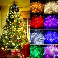 100/200 LED Christmas String Fairy Lights Xmas Tree Party Lamp Home Garden Decor