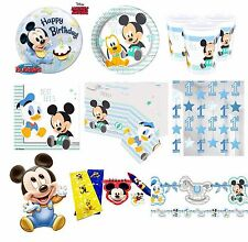Baby Mickey Mouse Party Supplies Tableware Birthday Plates Cups Napkins Decor
