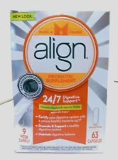 Align New Look Probiotic Supplement 63 capsules exp. 2017, (Opened box)