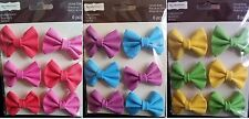 Recollections Signature CANVAS BOWS Embellishments - 6 pcs - CHOOSE ONE!!!