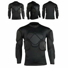 New Sport Soccer Jersey Men GK Goal Keeper Goalie Padded Long Sleeve Shirt Tops