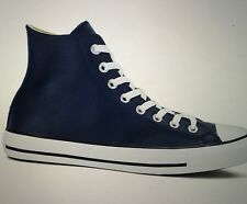 CONVERSE ALL STAR MENS 10 CHUCK TAYLOR NIGHTTIME NAVY BLACK WHITE LEATHER HI