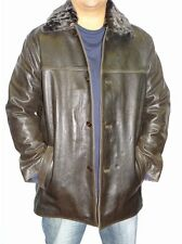 Weatherproof Button Front Leather Jacket