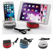 360 Rotation Desktop Car Charger Dock Stand Holder For iphone 6 7,Android,Type c