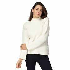 Principles By Ben De Lisi Womens Ivory Ribbed Popper Jumper From Debenhams