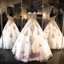 Luxurious Embroidery Rhinestone Bling Prom Formal Evening Gown Party Dresses