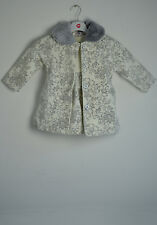 New Girls Soft Winter Floral Coat Hat Dress Set In Pink Or Cream 1yrs - 6yrs