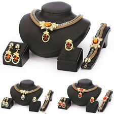 Womens Jewelry Sets Gifts Necklace+Bracelet+Earrings+Ring