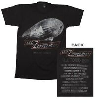 Led Zeppelin Cities 1977 Tour T-Shirt Officially Licensed Black Mens S M L XL