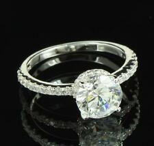 Solitaire Round Cut Wedding Ring 925  Silver Womens Engagement Gorgeous Bridal