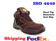 Shoes Safety Boots Men Work Steel Leather Boot Mens Brown Black Resistant New