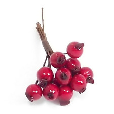 Realistic Red Berry Bunch x 10 wires, wreath making, garlands Christmas Xmas FS