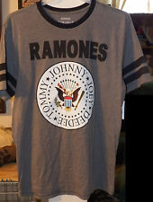 The Ramones Presidential Seal Logo Ringer Tee T-Shirt BRAND NEW LG XL Johnny