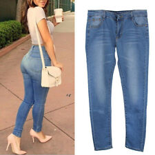 Sexy Womens Denim Skinny Pants High Waist Stretch Jeans Slim Pencil Trousers HOT