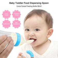 Infant Baby Silicone Feeding Bottle Nipple Spoon With Spoon Food Feeder B8P3