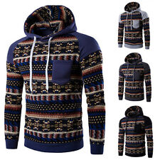 Men Winter Hoodie Warm Hooded Sweatshirt Coat Jacket Sweater National Style