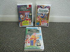 VHS - Lot of 3 NEW Disney Animated: Snow White, Beauty Beast Xmas, Winnie Pooh