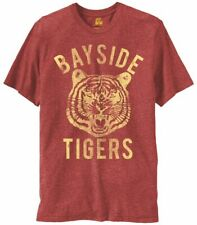 Adult Men's Saved By The Bell Bayside Tigers Heathered Burgundy T-shirt Tee