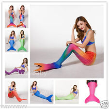 Women's Gorgerous scaly Mermaid Tail for Swimming with Mono fin Swimmable wear