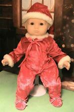 Adorable Santa's Helper Suit for Baby Dolls