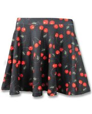 Liquorbrand Women's Cherries Skirt Pin Up Rockabilly Retro Cherry Skater Mini