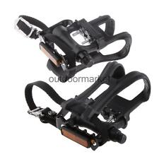 1 Pair Mountain Road BMX MTB Fixie Track Bike Bicycle Pedals WITH TOE CLIP STRAP