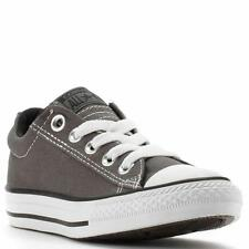 Converse CT Street Ox Charcoal Canvas Slip On Kids Shoes 626091F
