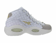 Mens Reebok Question Mid Quilted White Party Iverson White Chalk Gold AR1710
