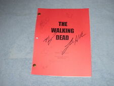 THE WALKING DEAD PILOT SCRIPT AUTOGRAPHS ANDREW LINCOLN STEVEN YUEN JON BERNTHAL
