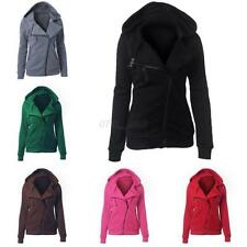 Women Hooded Casual Jumper Slim Zip Up Jacket Top Sweatshirt Coat Hoodie Sweater