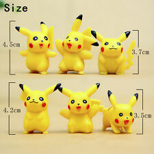 Cute 6pcs Pokemon Pikachu Monster Action Figures Kids Children Baby Doll Toy Set