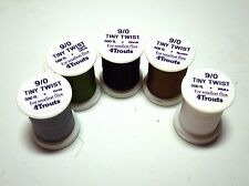Fly Tying Threads 9/0 TINY TWIST 4Trouts Lot of 1, 3 or 5 spools polyester